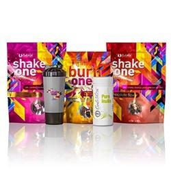 Pachet One Diet + Pure Inulin + Shaker Negru (2 Shake One/1 Burn One/1 Pure Inulin/1 Shake negru)