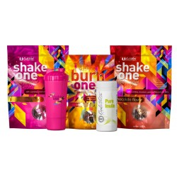 Pachet One Diet + Pure Inulin + Shaker Roz (2 Shake One/1 Burn One/1 Pure Inulin/1 Shaker roz)
