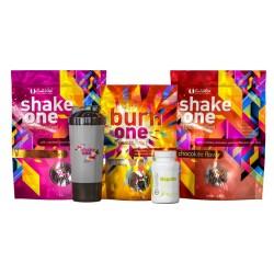 Pachet One Diet + Nopalin + Shaker Negru (2 Shake One/1 Burn One/1 Nopalin/1 Shaker negru)