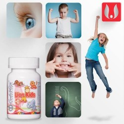 Lion Kids cu Vitamina D - 90 tablete